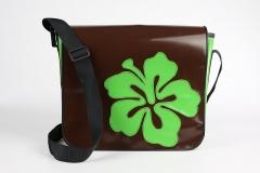 Handtasche-braun-gruen
